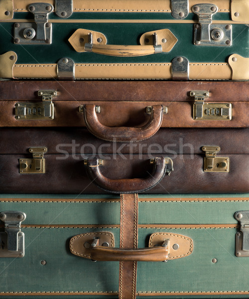 Colorful vintage suitcases Stock photo © stokkete
