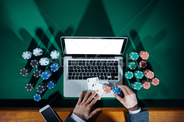 Online Poker Player Stock Photo C Stokkete 6187521 Stockfresh