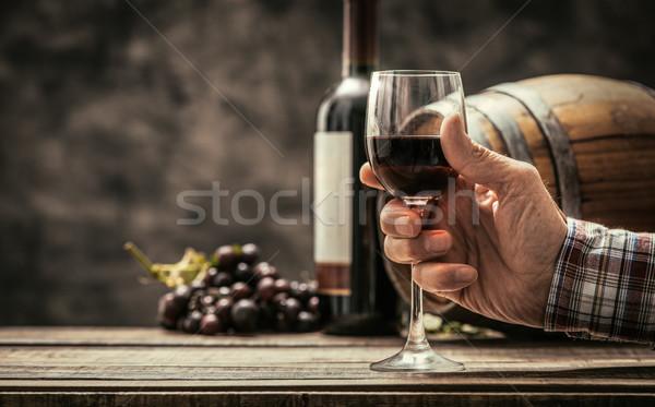 вино традиция культура старший дегустация стекла Сток-фото © stokkete
