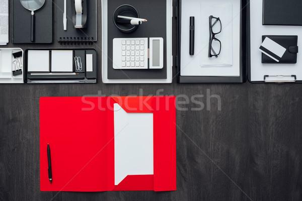 Corporate business desktop kantoor Open Stockfoto © stokkete