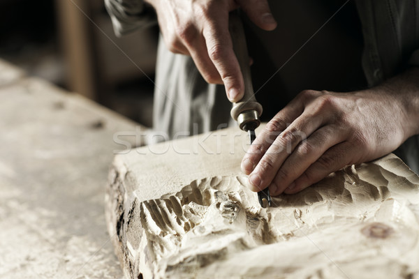 Stock photo: hands of a craftsman