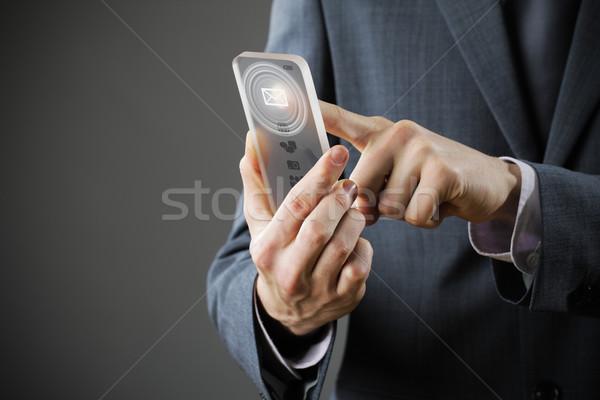 Empresário e-mail homem e-mail Foto stock © stokkete
