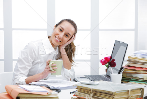 Stock photo: Coffee break in office
