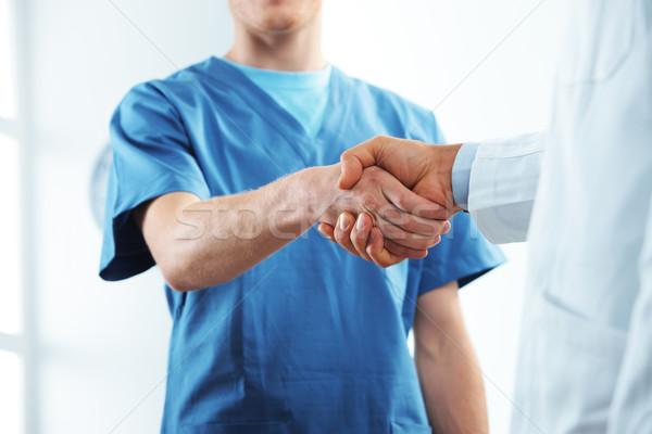 Exitoso salud equipo dos médicos personas Foto stock © stokkete