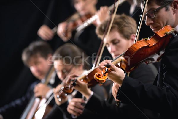 Orquestra primeiro violino seção sinfonia Foto stock © stokkete