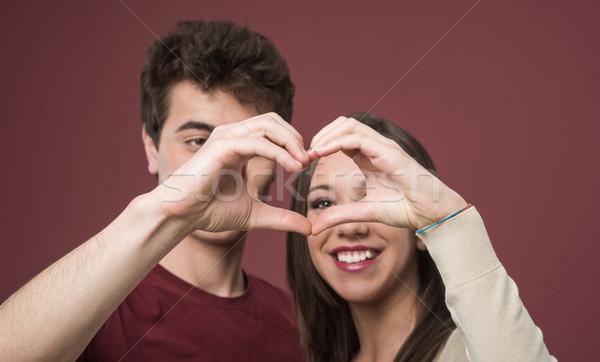 Romantic teen couple Stock photo © stokkete