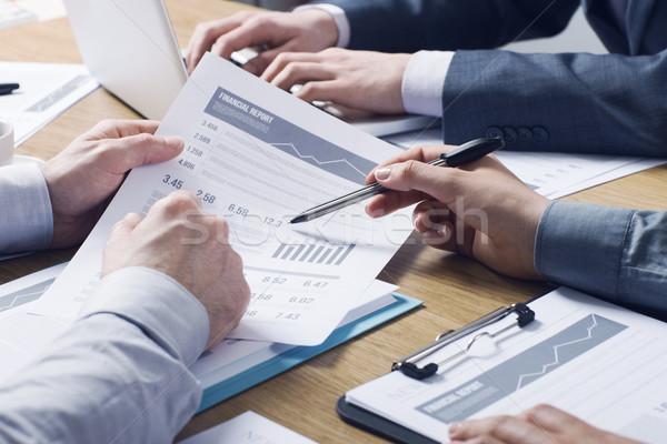 Stock fotó: Profi · pénzügyi · szolgáltatás · üzlet · szakemberek · együtt · dolgozni