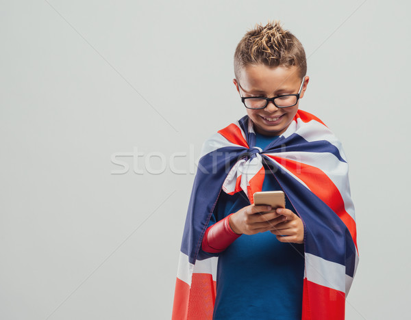 Grappig brits cute glimlachend Stockfoto © stokkete