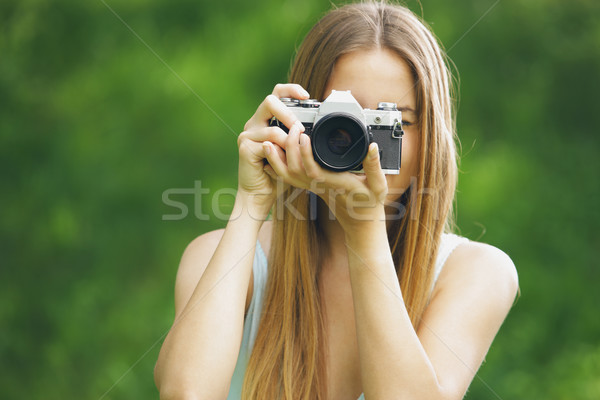 Vintage photographer Stock photo © stokkete