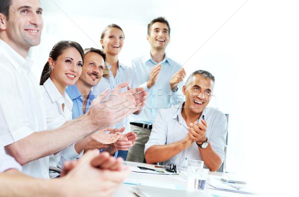 Gens d'affaires réunion groupe heureux affaires Photo stock © stokkete