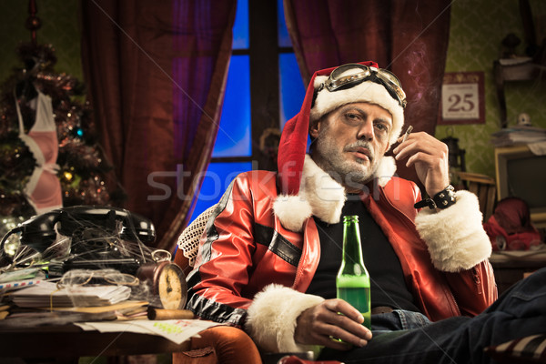 Bad Santa having a bad Christmas stock photo © luciano de polo ...