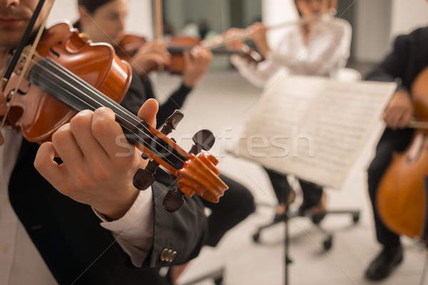 Violinist performing on stage Stock photo © stokkete