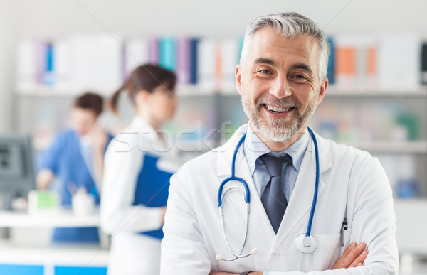 Chief physician posing in the office Stock photo © stokkete