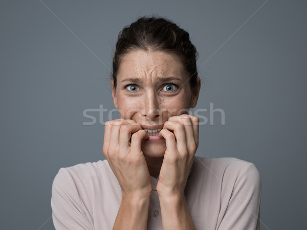 Terrified woman portrait Stock photo © stokkete
