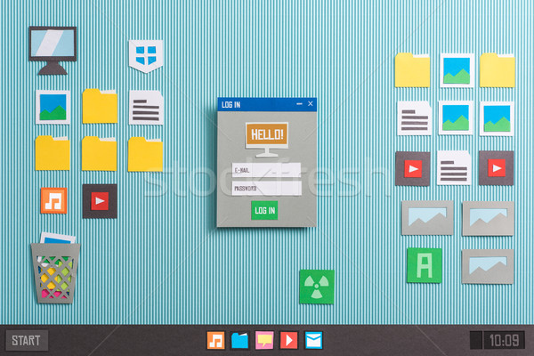 Felhasználó bejelentkezés alkalmazás startup számítógép interfész Stock fotó © stokkete