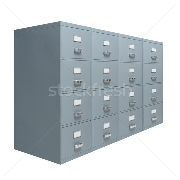 Filing cabinet on white background Stock photo © stokkete