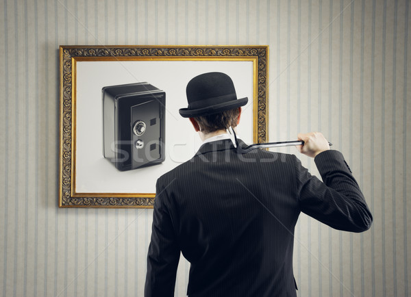 Hırsız güvenli finanse düşünme müze Stok fotoğraf © stokkete