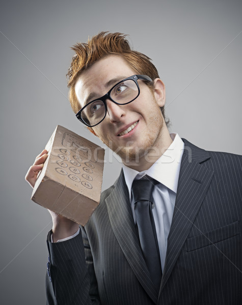 Nerd businessman Stock photo © stokkete
