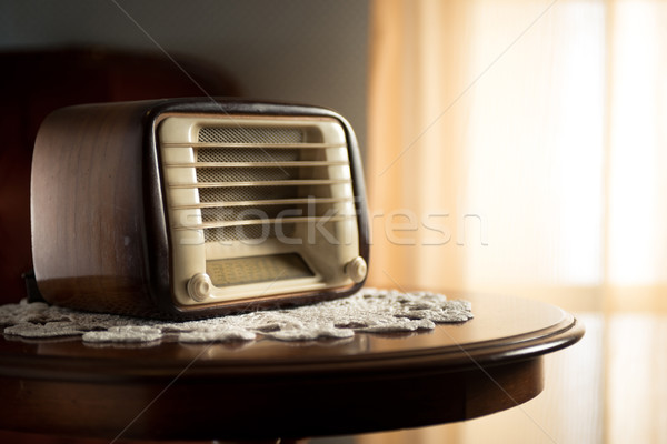 Vintage radio in the living room Stock photo © stokkete