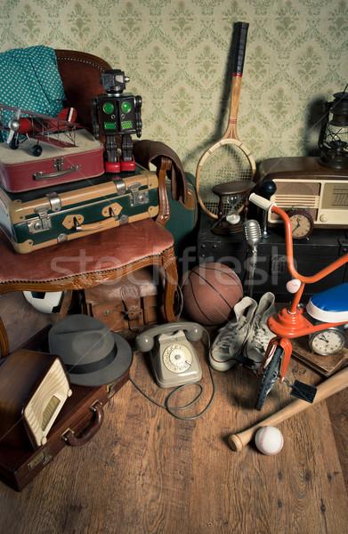 ático vintage grupo sombrero Foto stock © stokkete