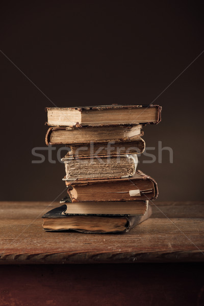 Pile of ancient books Stock photo © stokkete