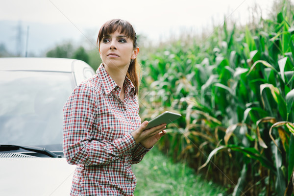 Woman lost in the countryside Stock photo © stokkete