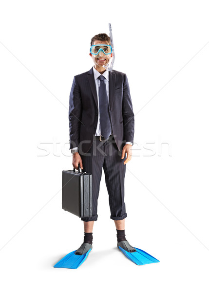 Diving happy businessman Stock photo © stokkete