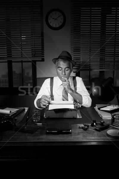 ストックフォト: プロ · 記者 · 作業 · ハンサム · 作業