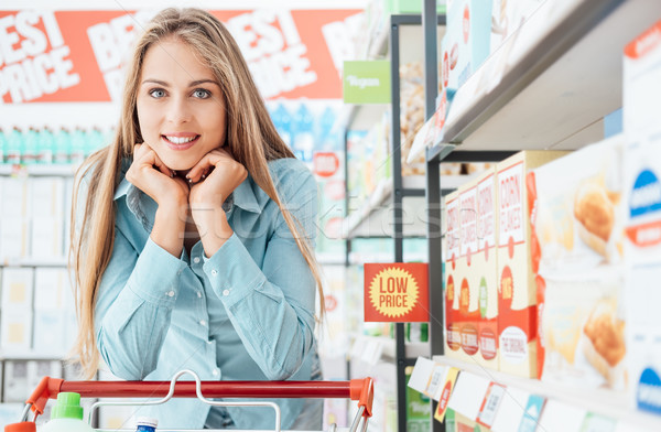 Woman shopping at the store Stock photo © stokkete