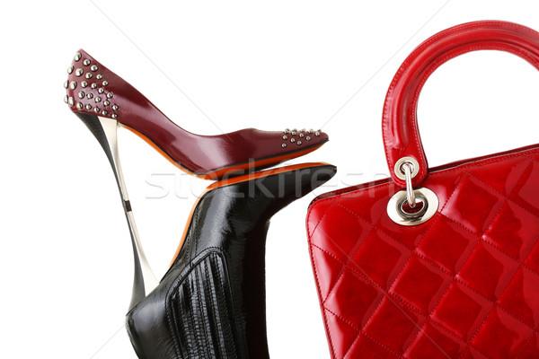 ストックフォト: 靴 · ハンドバッグ · ファッション · 写真
