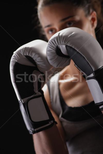 женщину бокса женщины Боксер Focus Сток-фото © stokkete