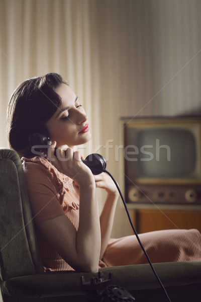 Woman at phone Stock photo © stokkete