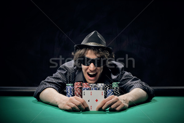 Texas Hold'em poker: the winner Stock photo © stokkete