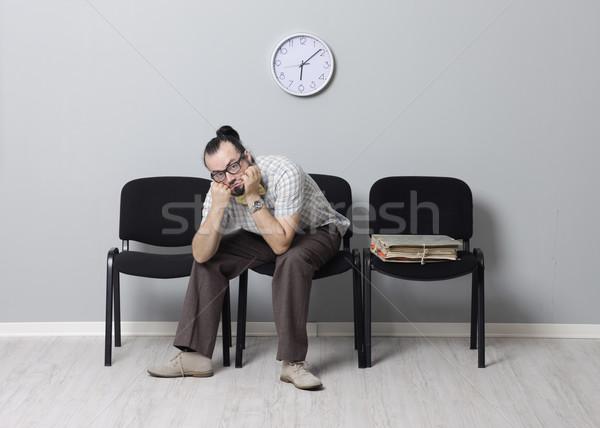 Letzte Job warten Interview depressiv Mann Stock foto © stokkete