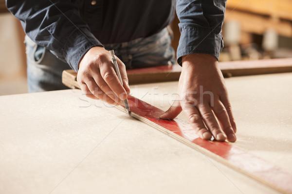 Stock photo: Carpenter at work