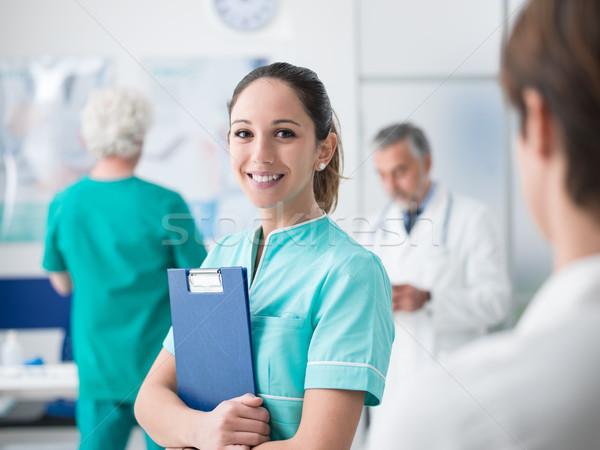 小さな 看護 作業 病院 女性 医学生 ストックフォト © stokkete