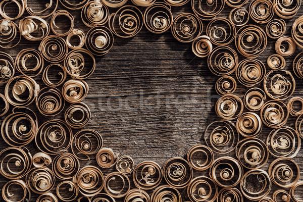 Fa spirál klasszikus copy space központ ácsmesterség Stock fotó © stokkete