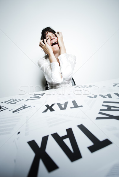 Desperate businesswoman Stock photo © stokkete