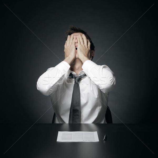 Trudności pracy portret zdesperowany biuro kierownik Zdjęcia stock © stokkete