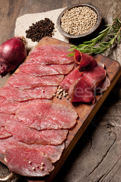Elegant food preparation: meat Stock photo © stokkete