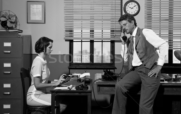 1950s style office Stock photo © stokkete