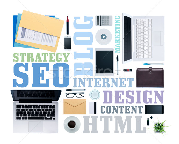Seo and copywriting concepts Stock photo © stokkete
