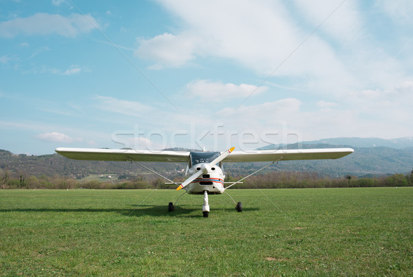 Light aircraft on the airfield Stock photo © stokkete