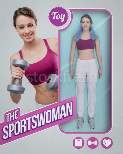 The sportswoman lifelike doll Stock photo © stokkete
