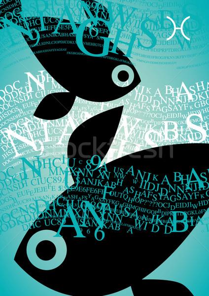 zodiac sign pisces Stock photo © stokkete