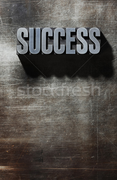 Old Metallic Letters:Success - metal background Stock photo © stokkete