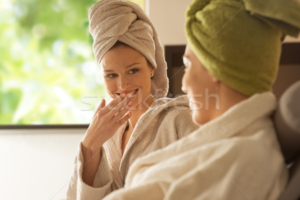 Women enjoying spa treatments. Stock photo © stokkete