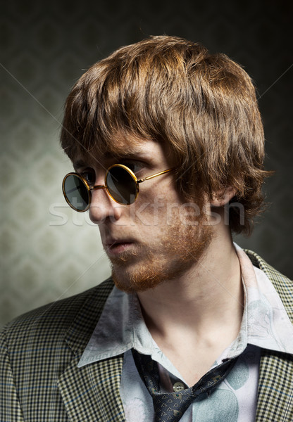 Vintage 1960s guy posing Stock photo © stokkete