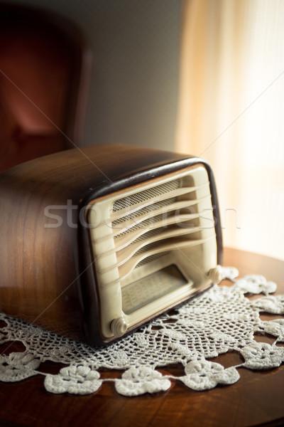 Vintage radio in the living room Stock photo © stokkete