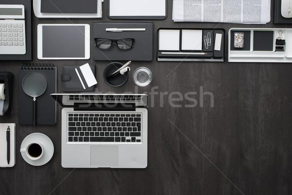 бизнеса workspace корпоративного Desktop ноутбука цифровой Сток-фото © stokkete